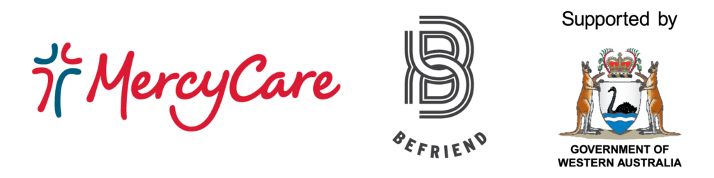 MercyCare Befriend and Western Australian Government logos