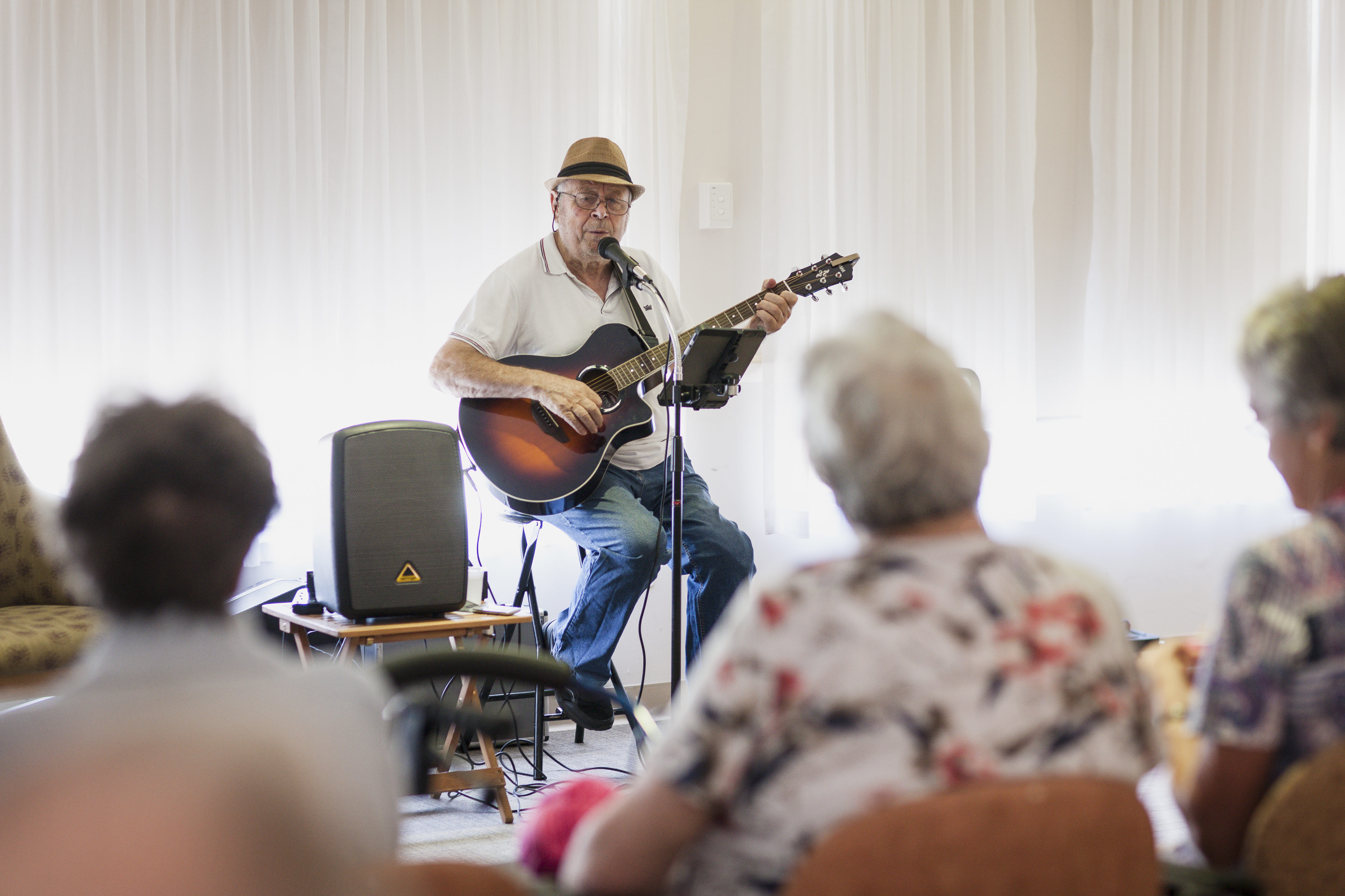 Musician plays for our aged care residents